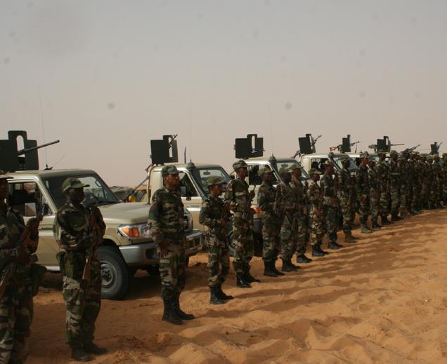 القوات المسلحة الموريتانية : تاريخ النشأة *