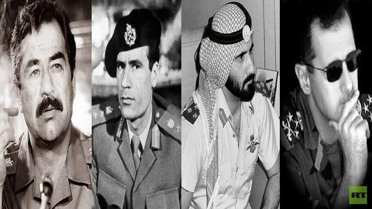 بشار الأسد، محمد بن راشد، معمر القذافي، صدام حسين