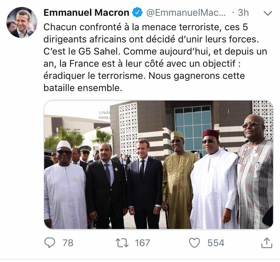 ماكرون ينهي زيارته لموريتانيا ويغادر نواكشوط