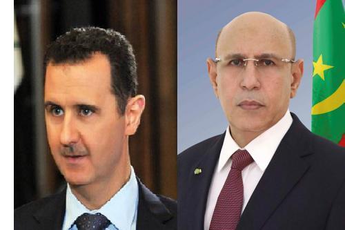 ولد الغزواني يكاتب الرئيس السوري بشار الأسد (نص الرسالة)