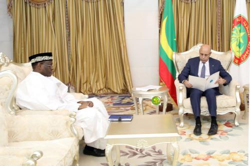 وزير خارجية مالي مع رئيس الجمهورية