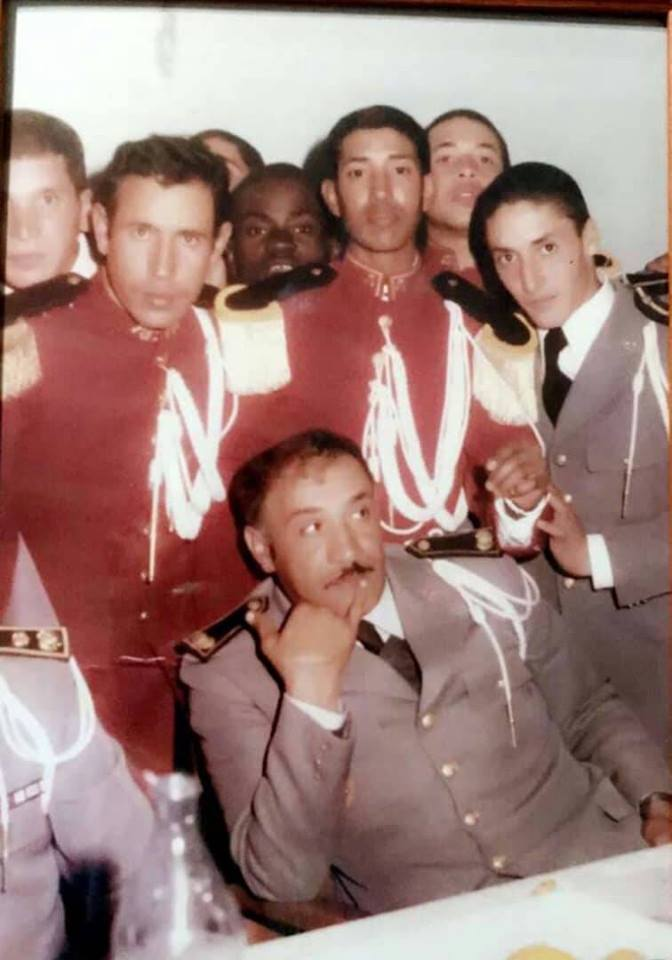 صورة نادرة لقائد الأركان الموريتانية ومساعده السابق (أرشيف)