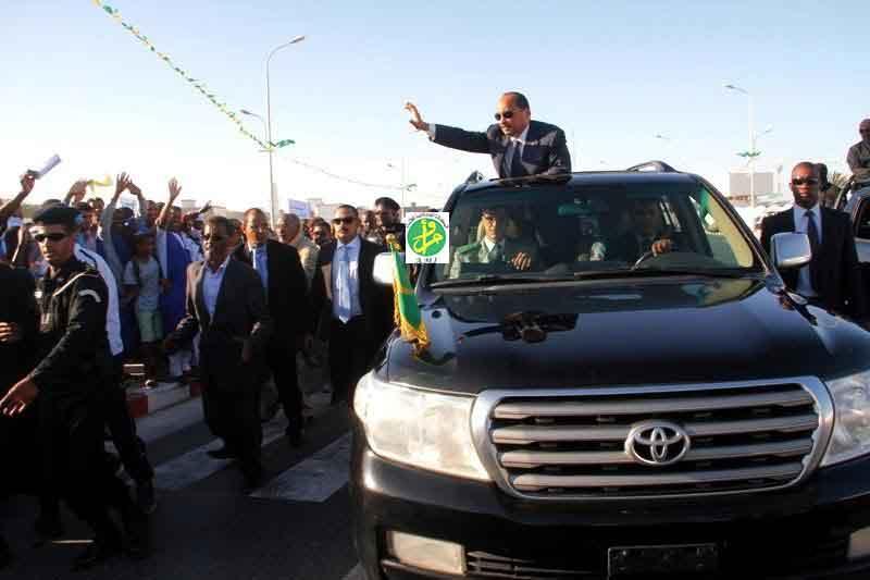 7 وزراء و5 مستشارين يرافقون ولد عبد العزيز في زيارته لتكانت