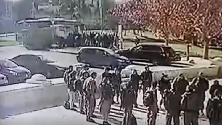 لحظة دهس الجنود الإسرائيليين في القدس