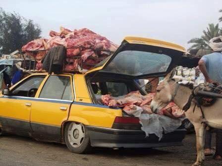 الطريقة التى يتم بها نقل اللحوم في نواكشوط